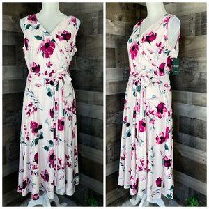 Lauren Ralph Lauren Faux Wrap Dress Floral Sz 12